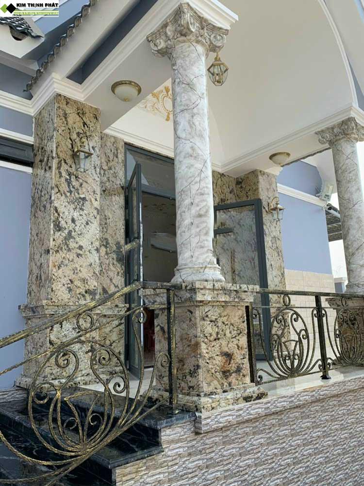 KIM THỊNH PHÁT chúng tôi chuyên lắp đặt công trình đá ốp cột, đá hoa cương cột tròn, đá cột tròn Uy Tín Chất Lượng cao hàng đầu trên toàn quốc