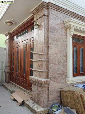 Kim Thịnh Phát chuyên bán đá hoa cương, lắp đặt công trình cầu thang, ốp tường, bàn bếp đá hồng táo