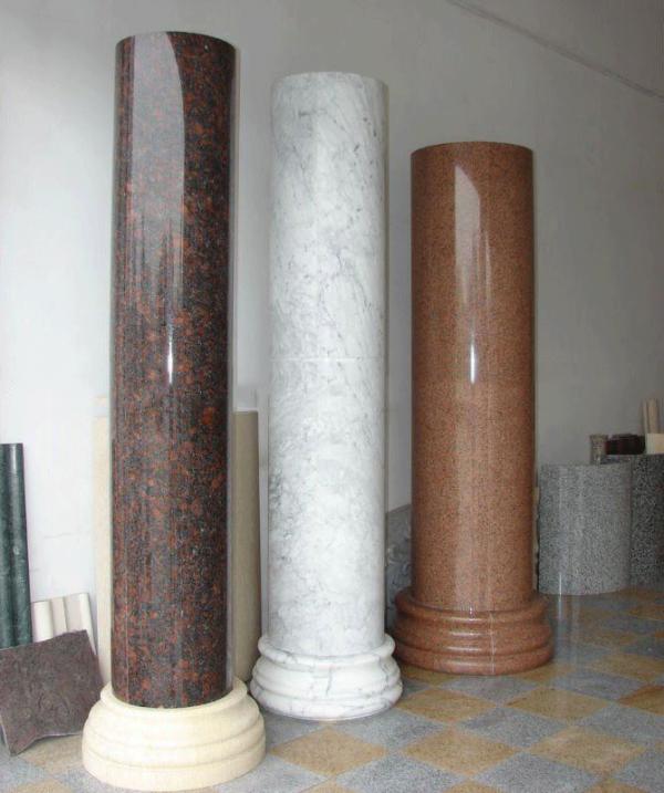 Thi công lắp đặt cột tròn đá hoa cương kỹ thuật cao, thợ thi công chuyên nghiệp kinh nghiệm sương máu nhiều năm trong nghề