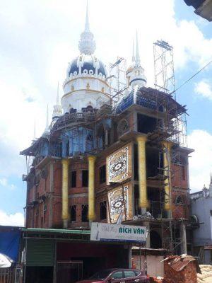 Những công trình biệt thự ốp cột màu vàng mà chúng tôi đã thi công