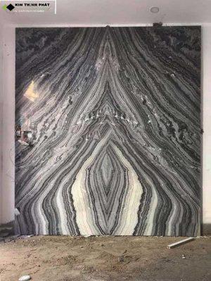 KIM THỊNH PHÁT chuyên ốp lát thi công đá marble đen vân mây làm cầu thang, bàn bếp, đảo bếp, tường nhà, bàn đá lavabo