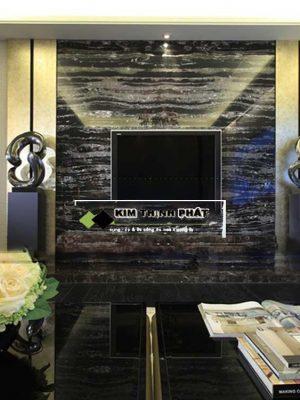 KIM THỊNH PHÁT chuyên cung cấp đá và lắp đặt công trình đá Marble đen Hoa Băng làm bàn bếp, cầu thang, mặt tiền