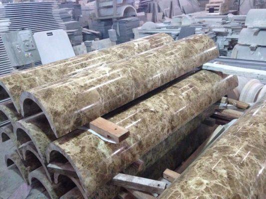 mẫu ốp cột tròn đá hoa cương chất lượng cao