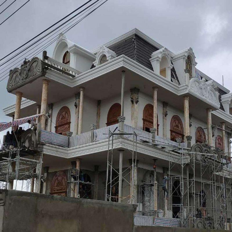 Kim Thịnh Phát thi công ốp cột đá hoa cương cho khách sạn, dinh thự, biệt thự cao cấp cổ điển